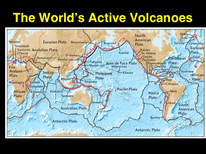 Gallery For > Active Volcanoes In The World Map