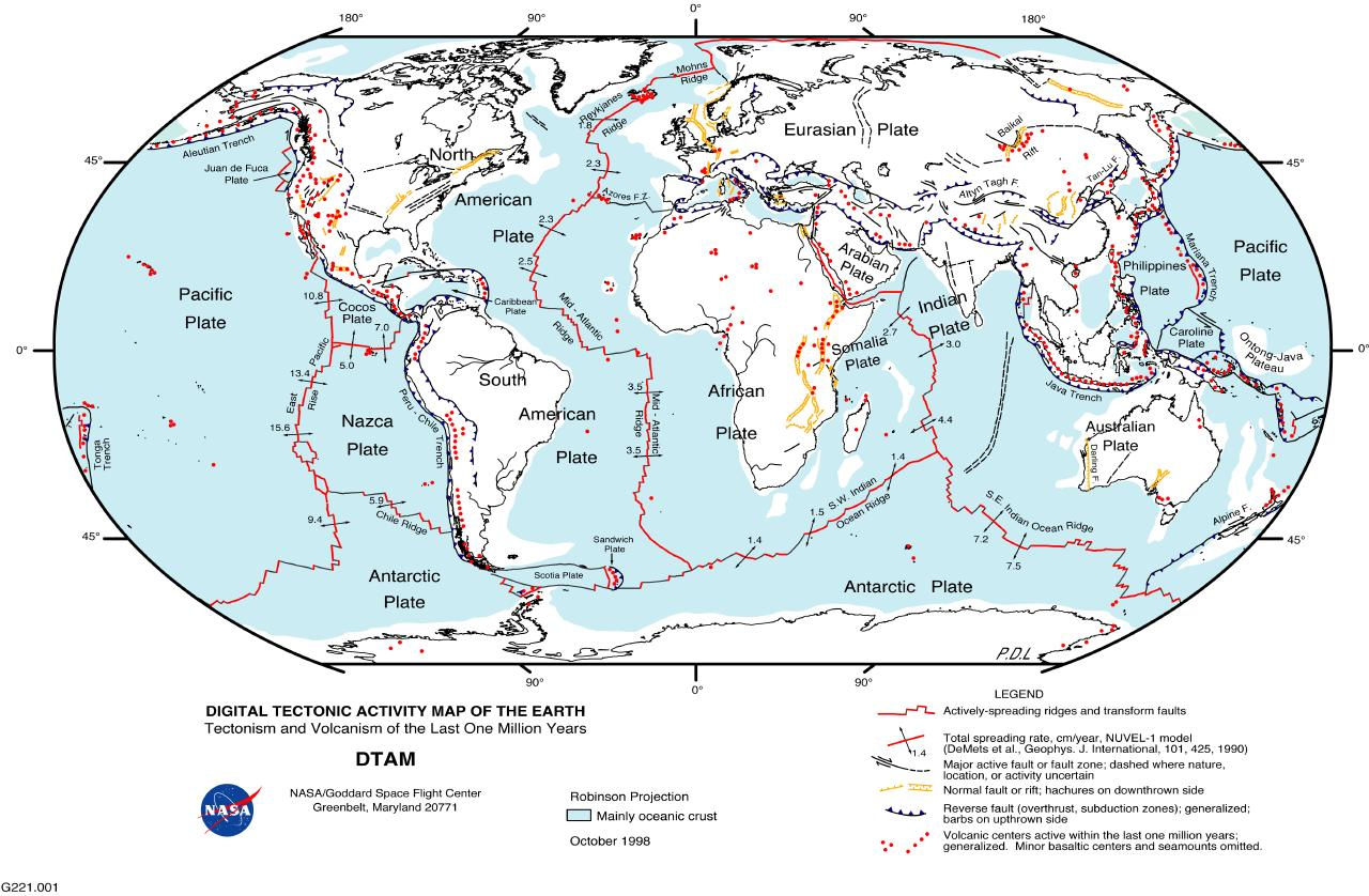 Maps World Map Fault Lines